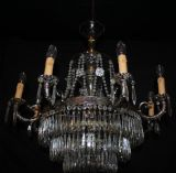 LARGE VINTAGE  CHANDELIER FRENCH   WATERFALL CEILING LIGHT - Ref: ANV5